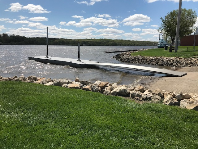 LeClaire Levee and Boat Ramp